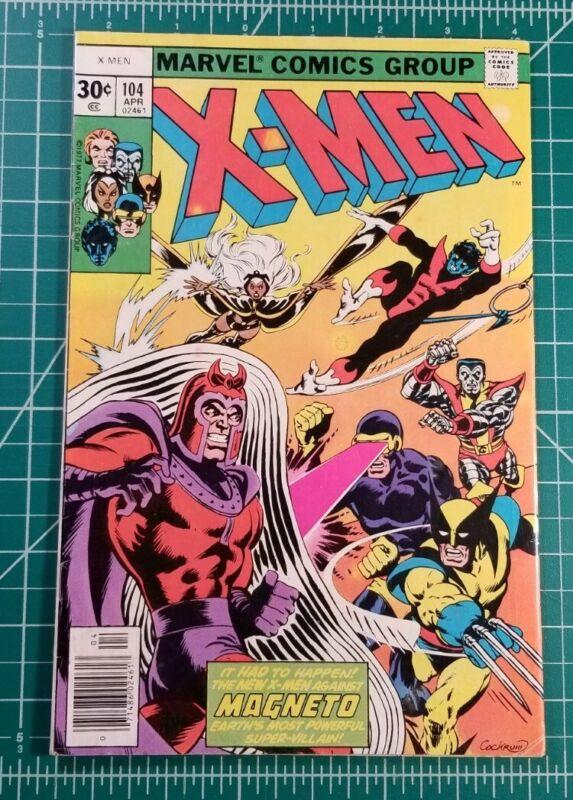 X-MEN #104 (1977) Marvel 1st Cameo App Starjammers! Return of Magneto! FN-