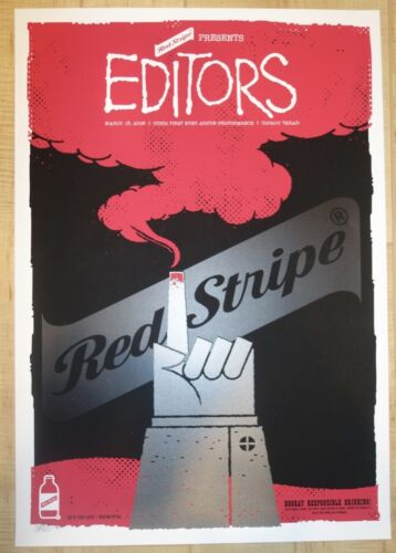 2006 The Editors - Austin Silkscreen Concert Poster A/P by Todd Slater