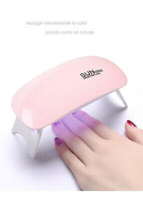 Mini LAMPADA UV LED FORNETTO RICOSTRUZIONE UNGHIE Per Gel Unghie Portatile nail
