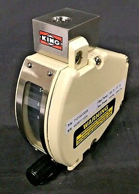 New Flow Meter King Instrument 7100 Series 316 Ss 14 Npt 5.5 Scfh Air