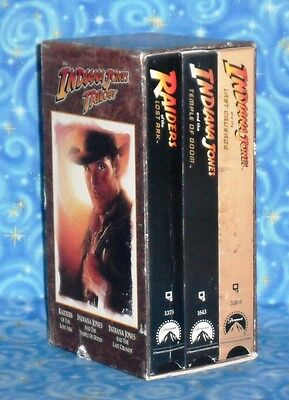 The Indiana Jones Trilogy Collectors Edition VHS Set Excellent Tested Condition