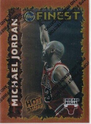 1995-96 TOPPS FINEST MICHAEL JORDAN HOT STUFF CHICAGO BULLS #HS1