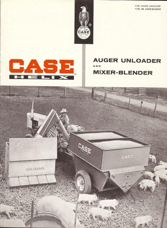 Farm Equipment Brochure - Case - Helix Auger Unloader Mixer Blender 50