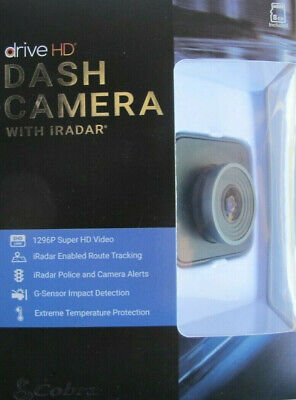 Cobra DASH2308 Drive HD Dash Cam with iRadar Black NEW SEALED