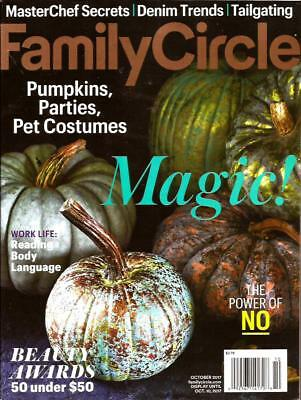 FAMILY CIRCLE Magazine; October 2017. Fall Halloween Pumpkins Parties Costumes - 2017 Family Halloween Costumes