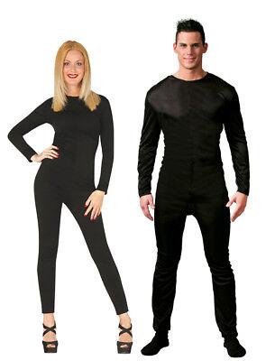 Theater Kostüme Halloween (Herren schwarz Body Damen schwarz Body Kostüm Theater Halloween Outfit M L)