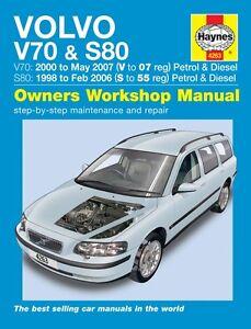 Haynes Owners Workshop Manual Volvo V70 S80 Petrol Diesel (98-07) SERVICE REPAIR