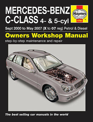 Mercedes C-Class W203 C220 & C270 Diesel 2000-07 Haynes Manual 4780 NEW