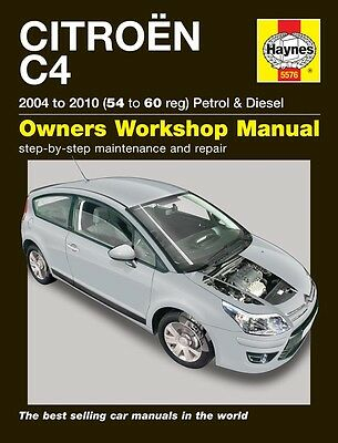 Haynes Manual 5576 Citroen C4 1.6HDi & 2.0HDi Diesel 2004-2010 NEW