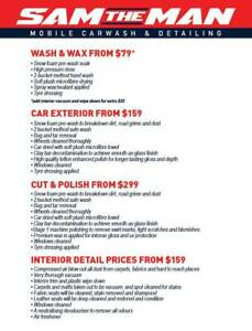 Sam The Man Mobile Car Wash And Detailing Other Automotive