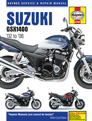 Suzuki GSX1400 1400 2002 - 2008 Haynes Manual 4758 NEW