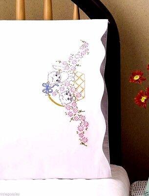 "Tobin Stamped Embroidery Kit 20"" x 30"" Pillowcase ~ KITTENS BASKET #232033 Sale"