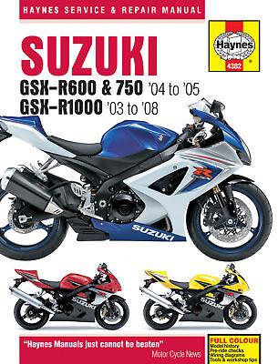 Haynes Manual 4382 Suzuki GSXR750 GSX-R750K4 GSX-R750K5 NEW