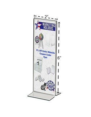 Retail Pricing Sheet Menu Table Countertop Bottom Loading Display Holder