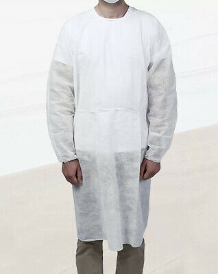 White Disposable Unisex Non Woven Drawstring Breathable Protection Suit