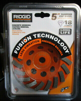 Ridgid 5 Grinding Wheel Turbo Diamond Cup Angle Grinder 18 Segment