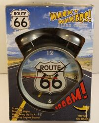 "MARK FELDSTEIN - WACKY WAKERS ""ROUTE 66"" SOUND ALARM CLOCK - Brand New HTF"