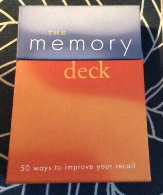 MEMORY DECK OF CARDS 50 WAYS TO IMPROVE YOUR RECALL 2003  *Excellent!*
