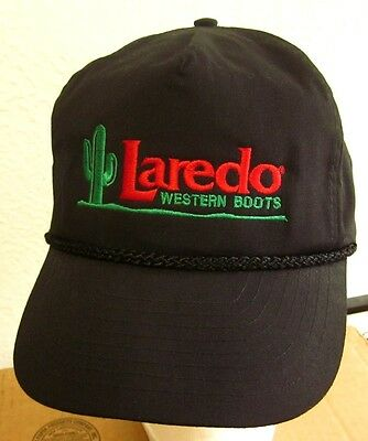 LAREDO WESTERN BOOTS baseball cap 1980s logo Cactus cowboy snapback hat