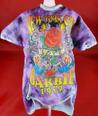Barbie Oversized Tshirt Dress Top Tie Die Style Fashionista Fashion Accessory