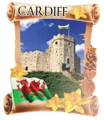 Cardiff Castillo Rollo Welsh Recuerdo Imán de Nevera