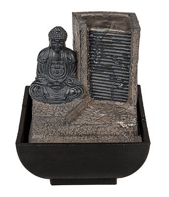 Tischbrunnen Buddha am Wasserfall Zimmer Brunnen Wasserspiel Springbrunnen (Springbrunnen Buddha Wasser)