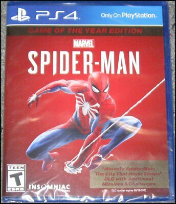 Marvel's Spider-Man - Game of the Year Edition - Sony PlayStation 4 - PS4 - New