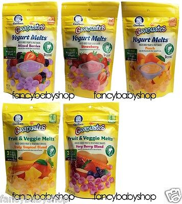 Gerber Graduates Yogurt Melts Snacks 1 oz , You Choose the F
