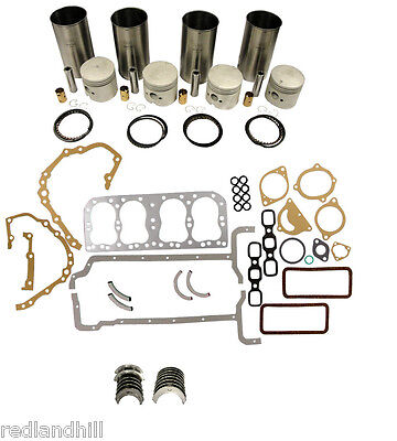 FORD TRACTOR ENGINE MAJOR REBUILD OVERHAUL KIT with BEARINGS  2N, 8N, 9N
