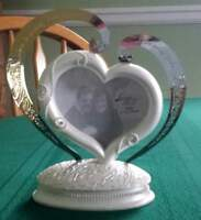 Wedding Cake Topper, Guest Book Pen, and Just Married Figurine