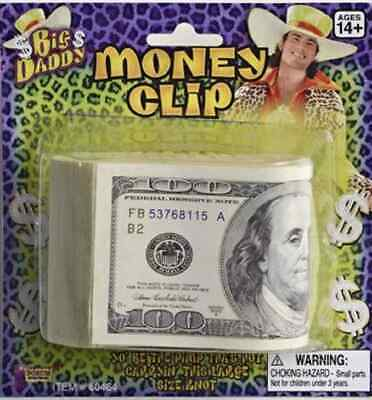 Big Daddy Money Clip Dollar Bill Roll Pimp Dress Up Halloween Costume Accessory](Dollar Bill Costume)