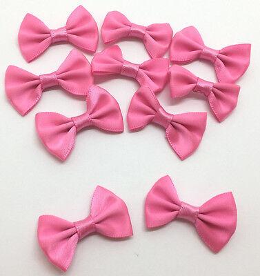 10 Stück Schleifen Deko Basteln Kostüm Applikation kräftiges rosa - Rosa Schleife Kostüm