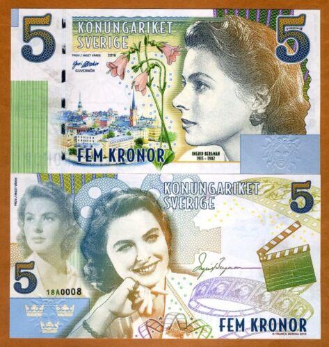 Sweden, 5 Kronor, Private Issue Essay, 2018 > Ingrid Bergman