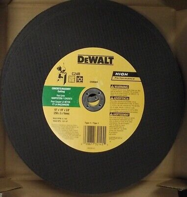 Dewalt DW8009 Concrete Cut Chop Saw Wheel 10
