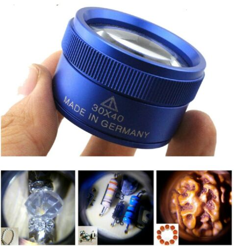 40X30 Magnifying Loupe Jewelry Eye Glass Magnifier Jewelers Loop Pocket US