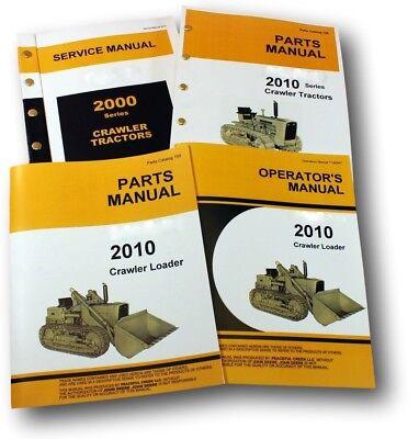 Service Manual Set For John Deere 2010 Crawler Loader Parts Owners Operator
