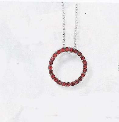Red Colored Rhinestones Pendent Circle lJuly 3/4