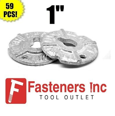 Qty 59 1 Round Malleable Washer Malleable Iron Hot Dipped Galvanized 40lb Box