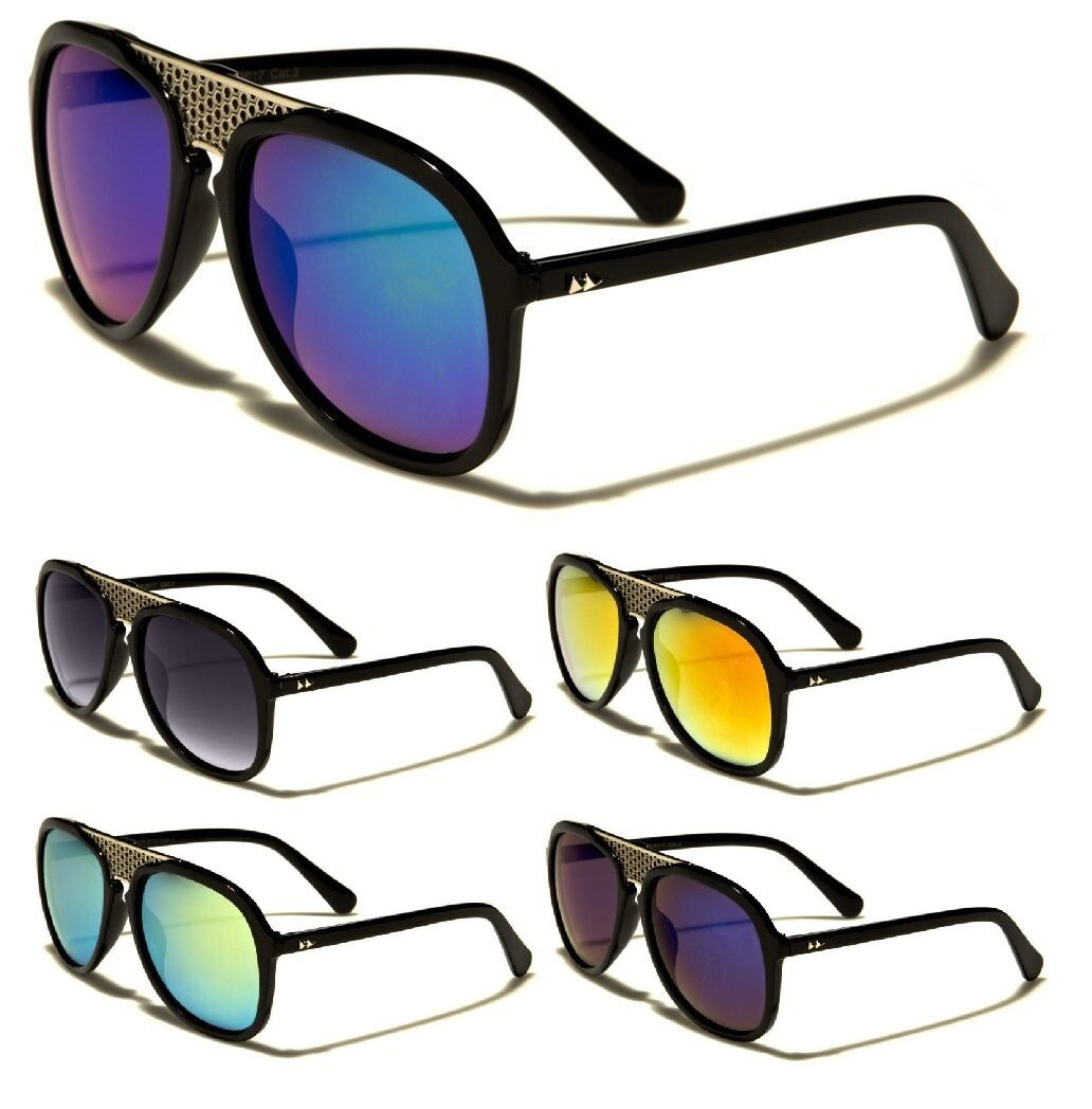 RETRO REWIND FUTURISTIC AVIATOR SUNGLASSES OVERSIZED THICK P