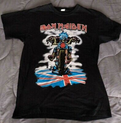 Iron Maiden Vintage T Shirt Don't Walk Medium Great Condition M