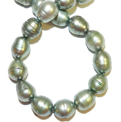 """NP576 Sage Green 8mm Rice Cultured Freshwater Pearl Gemstone Beads 16"""""""