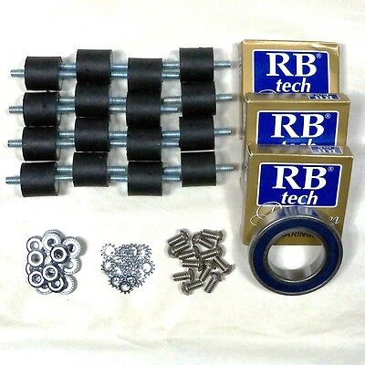 4 Sets Base Plate Bearing And Rubber Spring Kit 50736a 10666a Clarke Obs-18