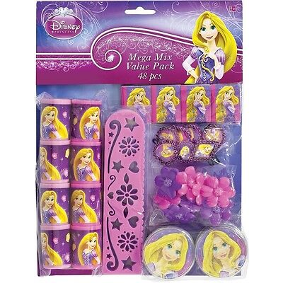 Disney Princess Mega Mix Party Pack Favors Girls Birthday Decoration Supply-48ct