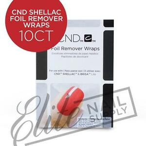 CND Shellac Foil Remover Wraps 10ct