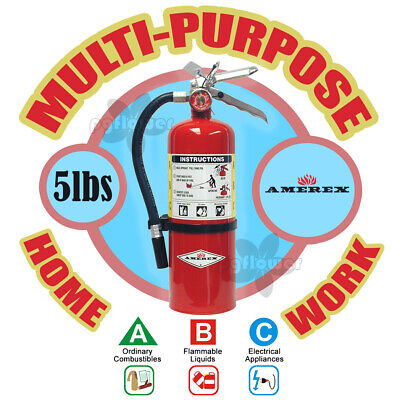 Amerex B500 5lb Abc Multi-purpose Dry Chemical A B C Class Fire Extinguisher Abc