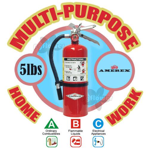Amerex B500 5lb ABC Multi-Purpose Dry Chemical A B C Class Fire Extinguisher ABC
