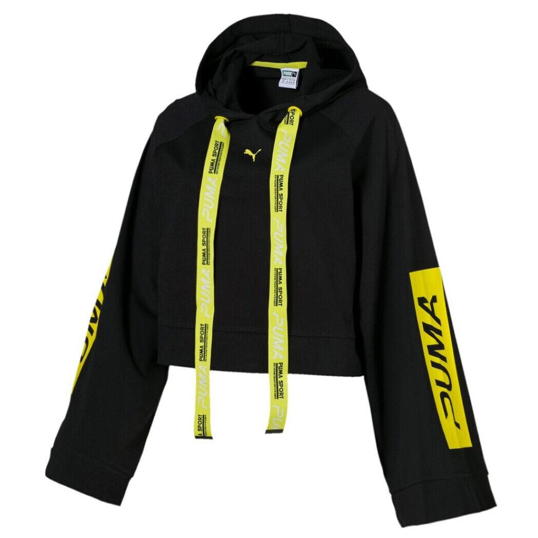 disposto minaccia legale  Puma Xtreme Tape Womens Hoodie Pullover Black Cropped Jumper 577382 01 A72B  | eBay