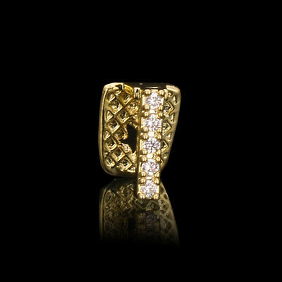 Cz Gap 18K Gold Plated Single Tooth Hip Hop Bling Grillz Teeth Top or -