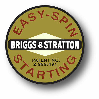Vintage Briggs Stratton Easy Spin Circle Small Engine 1 1116 Sticker Decal