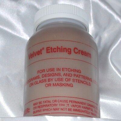 McKay Velvet Etch Professional Etching Cream 4 oz -(118 ml) for Glass + Mirror